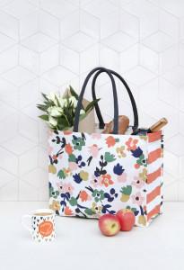 The jute/cotton shopper designed by Caroline Gardner for Waitrose.