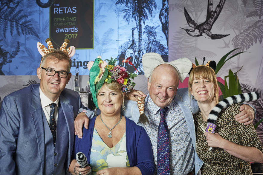 The PG/Retas team showing their animalistic tendencies! (Right-left) Gale Astley, Warren Lomax, Jakki Brown and Ian Hyder.