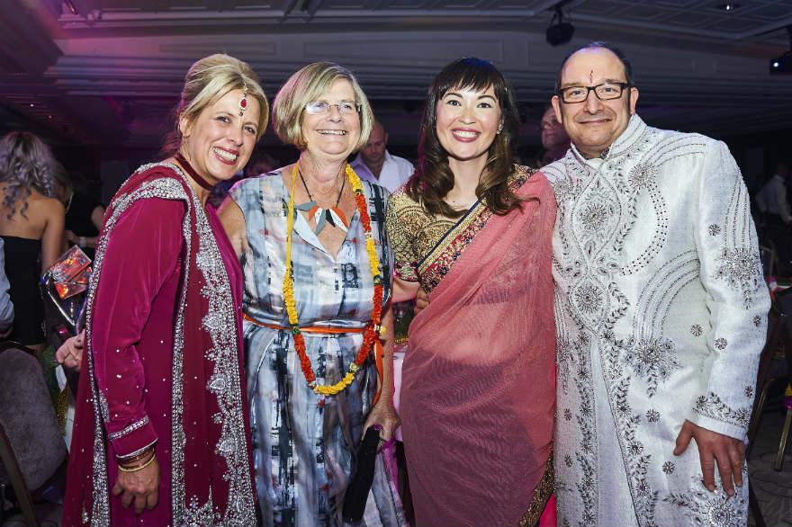 Lynn at last October's Henries Awards with Ladder Clubbies Rush Designs' Lorraine Bradley (left), Amanda Mountain (of Lola Design) and agent Ian Bradley.