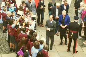 HRH The Earl of Wessex (Prince Edward) arrives at The Bluecoat