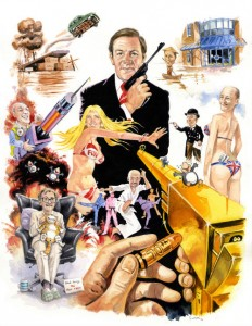 A James Bond themed card for Peter's 70th from colleagues