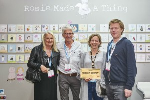 Eliot James (far right) with Scribbler directors John and Jennie Procter (far right) spending their Golden Ticket at last year's PG Live with Rosie Made A Thing founder Rosie Harrison.
