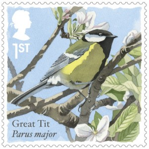 Royal Mail's Great Tit stamp is made into a sound card by Really Wild Cards