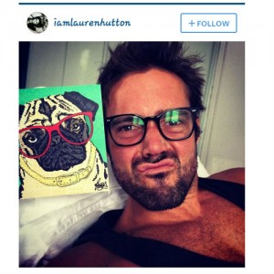Spencer Matthews and his card I did for his dog!