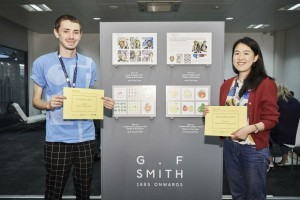 Joe Cox and Xian Lin, winners of the On the Cards competition