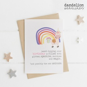 A magical design from Dandelion Stationery.