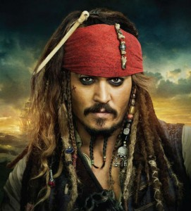 Captain Jack Sparrow would be a good choice on a desert island!