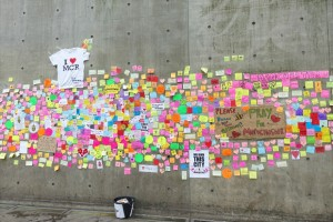 The Wonderwall of messages in Manchester