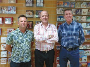 Chris Wilcox (right) with co directors (centre) Chris Houfe (sales director) and Nick Adsett (creative director)