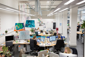 There is a light airy feel in the Hallmark creative studio in its new HQ.
