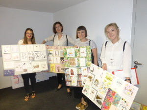 The Paperchase gang consider some of the entries in The Lynn Tait Most Promising Young Designer Award category.