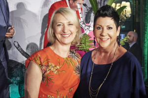GCA's ceo Sharon Little (left) with Suzie Abel of GCA retailer member Jarrolds at The Retas last month at which they drew the raffle.