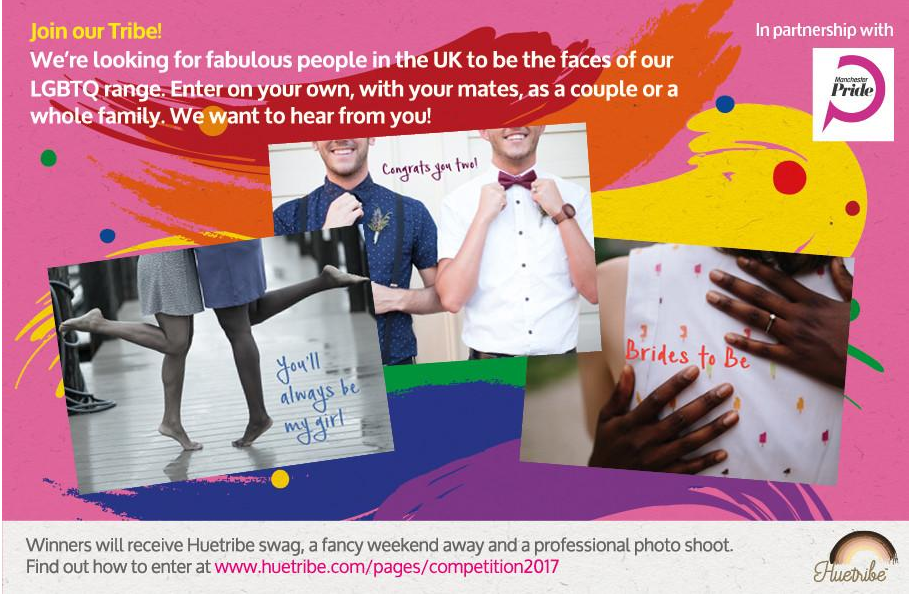 The 'Join our Tribe' competition aims to find the new face of Huetribe.