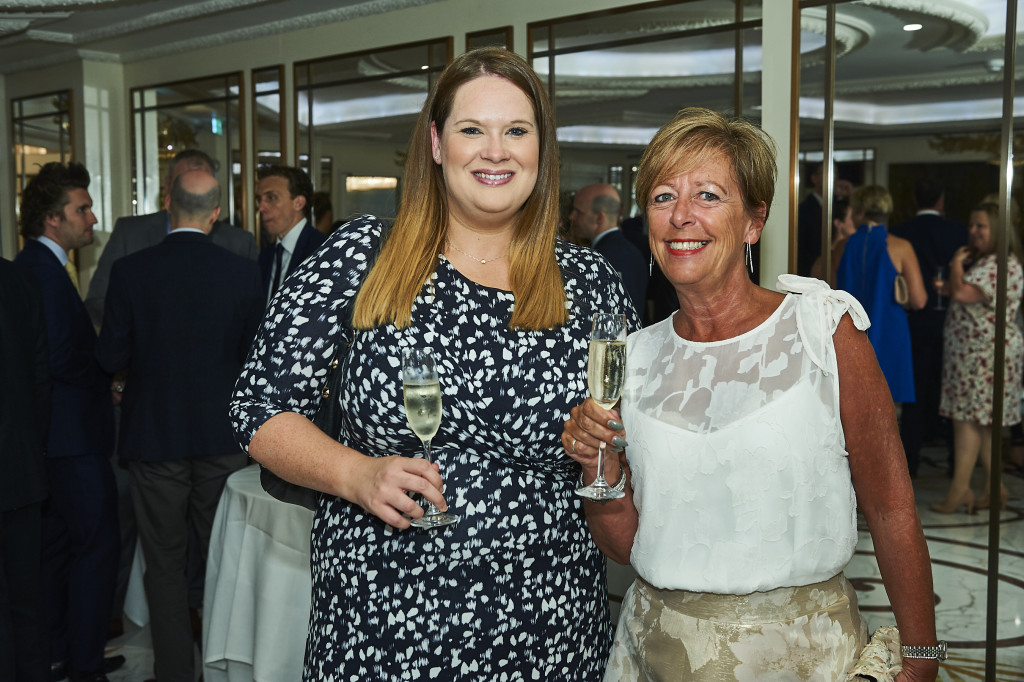 Above: Carly Pearson (left) at the recent Retas awards with UKG's Amanda Scrivener.