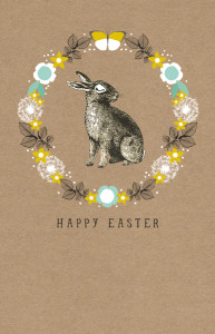 Above: An Easter card from The Art File. The Easter bunny could have more 'spring' in its step if the 'greeting card economics' can be sorted for Spring Seasons.