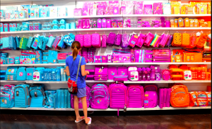 Smiggle's bright cheery approach is a popular choice with the youth.