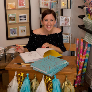 Rebecca Cahill Roots at a launch event for her book at Honeybourne's in London's Ladywell.