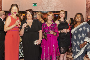 Above: Kate Vines (second right) at The Henries last year with Paper Rose and Glick colleagues