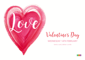Above: The Valentine's artwork lends itself to promote the event as a friendship as well as a lovers send.