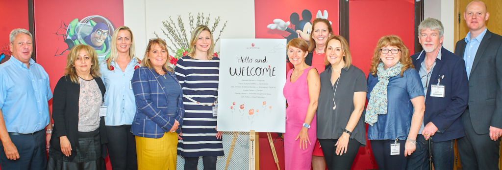 UKG's director of marketing Ceri Stirland (right of the centre) and commercial director Jayne Myers (2nd right of the board) together with colleagues from the sales and insights team welcomed the retailer visitors to the Forum.