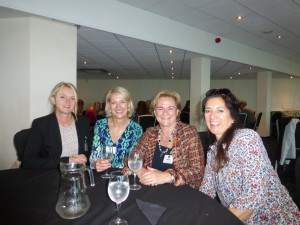 Sweet's Sally Anson with Ladder Club speakers (right-left) Wendy Jones-Blackett, GCA's Sharon Little and Jenny Cummins of Sydney-based McMillan Cards.