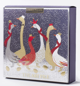 The Art File's Sara Miller London Christmas box that is in the finals of The Henries this year.