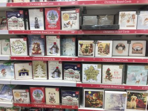 Some of the Christmas offer that is now on sale in Card Factory stores.