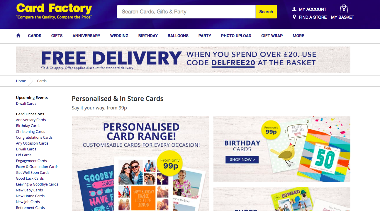 Card factory delivers sales growth but profits down pg buzz expansion of its online operations is one of the value chains four pillars of growth bookmarktalkfo Choice Image