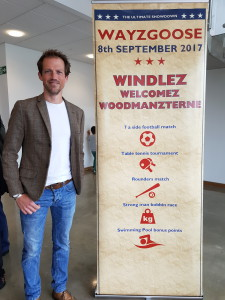 Windles' Ian Kerr-Bertie at the recent Wayzgoose event that the printer held at its premises.