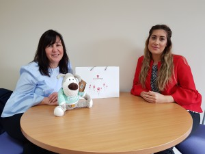 UKG's trade marketing manager Jill Alexander (left) and colleague Gabriella Peace, communications manager with one of the goody bags that is going out to independent retailers.