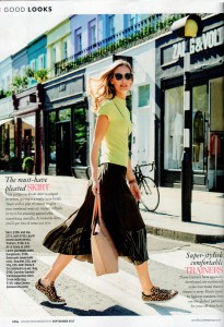 Caroline Gardner's new leather bags are being featured in consumer magazines, such as Good Housekeeping's September edition.