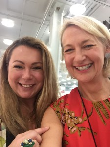 The GCA's ceo Sharon Little (right) grasped the opportunity for a selfie with Holly at Top Drawer.