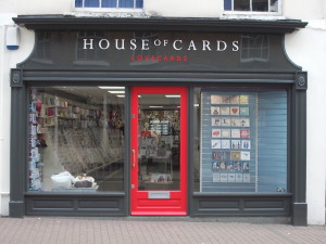 Above: House of Cards store in Tring.