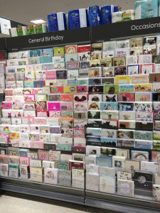 All the new cards in Waitrose are pre-priced on the rear.