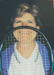 Lynn Tait in tennis mode.