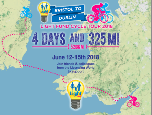 Next year sees The Light Fund taken on his most ambitious fundraising event ever – a 325 mile cycle challenge.