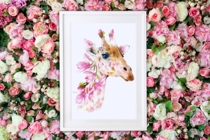 One of the designs in the Wildlife Botanical collection from Lola Design.