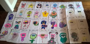 Just some of the entries to the Dragonfly Design a Beanie Boo competition.