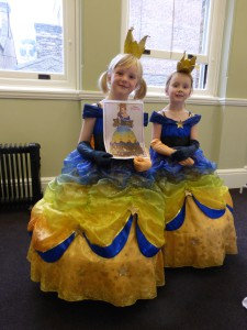 Poppy holding her winning design with Libby. It was also their first ever trip to London!