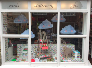 As part of its service to customers, Red Card changes its window display frequently. This one was to promote Arthouse Meath.