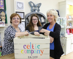 A trio of The Celtic Company team (left-right), Anne Smith, Clare McPartlin and Sheryl Weaver.