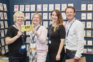 Sally Matson (second left) at PG Live at where she spent her Greats voucher with Stop the Clock Designs.
