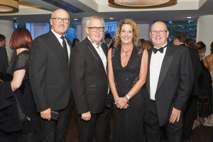 Words 'n' Wishes' joint mds Rod Brown (far left) and Carl Salt (far right) with Cardgains' marketing director Penny Shaw and Chris Dyson at the recent Henries awards.