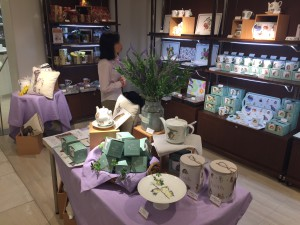 Part of the Wrendale Designs' Portmeirion products on display in the Takashimaya Yokohama department store.