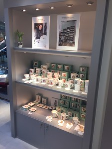 Hannah Dale's photo appears alongside some of the displays in Japan.