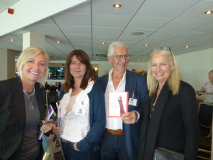 (Left-right) HH Designs' Ali Kittermaster and Emily Parton with Scribbler's John and Jennie Procter at the recent Ladder Club seminar.