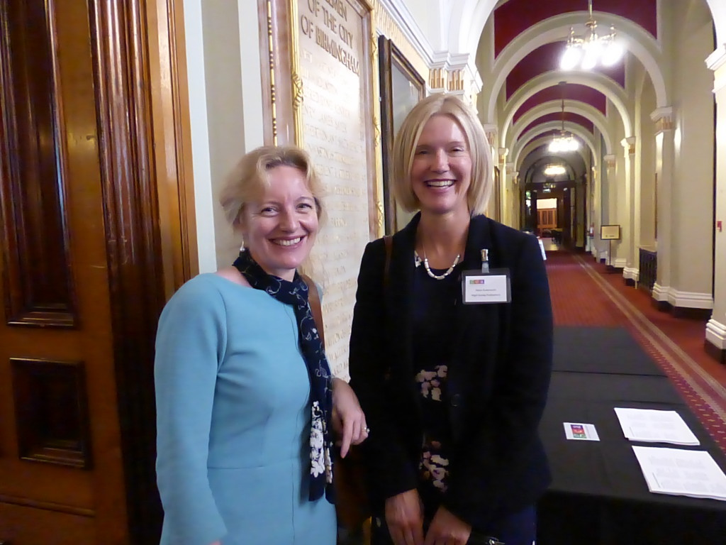 GCA retail member WH Smith's Claire Castle (left) with Nigel Quiney's md Alison Butterworth.