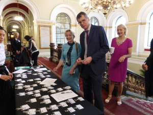 Retailers Claire Castle of WH Smith and Nigel Williamson of House of Cards checking in!