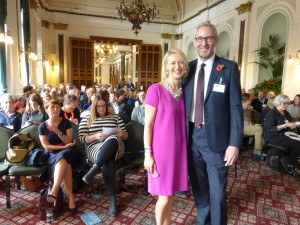 GCA's Sharon Little and outgoing president Ged Mace at the front of the assembled crowd!