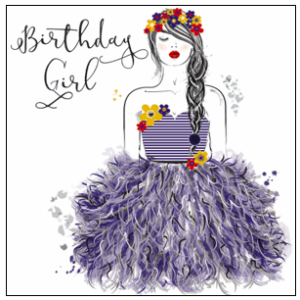 Contemporary female sends from The Handcrafted Card Company's new Beau Couture range.